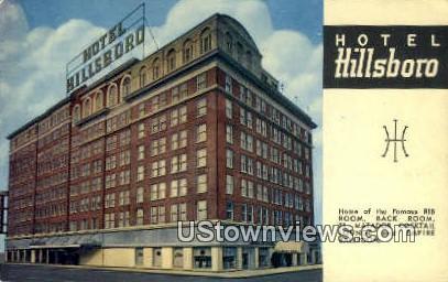 Hotel Hillsboro - Tampa, Florida FL Postcard