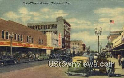 Cleveland Street - Clearwater, Florida FL Postcard