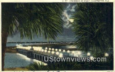 Causeway - Clearwater, Florida FL Postcard
