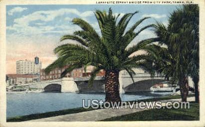 Lafayette Street Bridge, City Park - Tampa, Florida FL Postcard