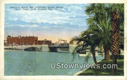 Bostains Hotel, Lafayette Street Bridge - Tampa, Florida FL Postcard