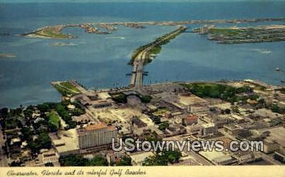 Gulf Beaches - Clearwater, Florida FL Postcard