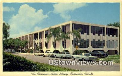 Clearwater Public Library - Florida FL Postcard