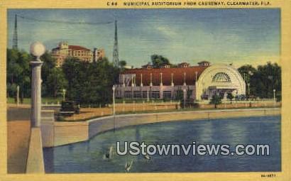 Municipal Auditorium - Clearwater, Florida FL Postcard