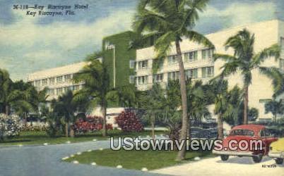 Key Biscayne Hotel - Florida FL Postcard
