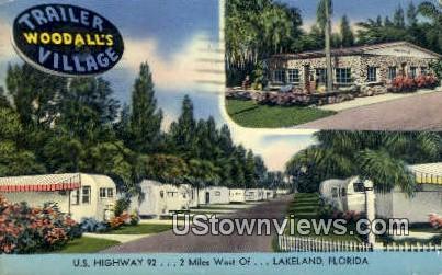 Woodall's Trailer Village - Lakeland, Florida FL Postcard