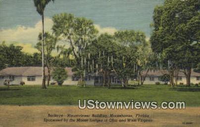 Buckeye-Mountaineer Bldg - Moosehaven, Florida FL Postcard
