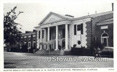 Mustin Beach Officers Club - Pensacola, Florida FL Postcard