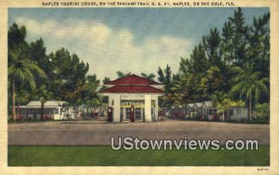 Naples Tourist Court - Florida FL Postcard