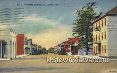 Business Section - St Cloud, Florida FL Postcard