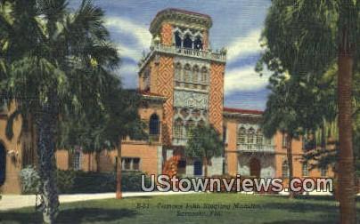 Famous John Ringling Mansion - Sarasota, Florida FL Postcard