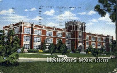 High School, Sarasota - Florida FL Postcard