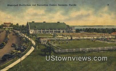 Municipal Aud & Rec Center - Sarasota, Florida FL Postcard
