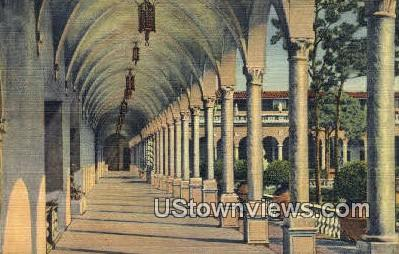 Inner Court, Ringling Art Museum - Sarasota, Florida FL Postcard