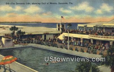 Sarasota Lido - Florida FL Postcard
