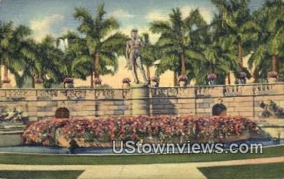 Court, David Statue, Ringling Art Museum - Sarasota, Florida FL Postcard