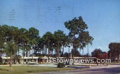 Town Hall Court - Sarasota, Florida FL Postcard