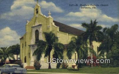 St. Martha's Catholic Church - Sarasota, Florida FL Postcard