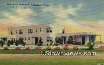 New Motel Purcell - St Augustine, Florida FL Postcard