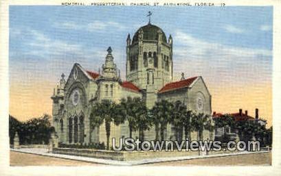 Memorial Presbyterian Church - St Augustine, Florida FL Postcard