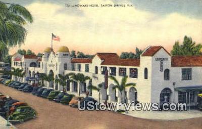 Howard Hotel - Tarpon Springs, Florida FL Postcard