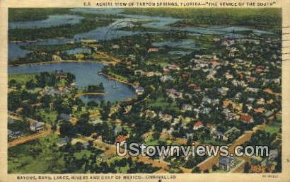 Bayous, Bays - Tarpon Springs, Florida FL Postcard