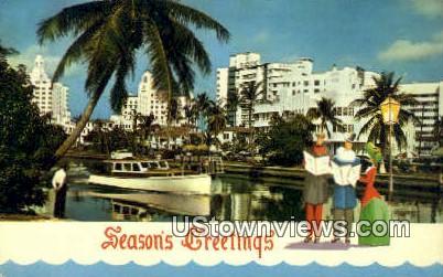 Season's Greetings - Greetings from, Florida FL Postcard