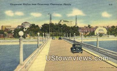 Clearwater Skyline, Causeway - Florida FL Postcard
