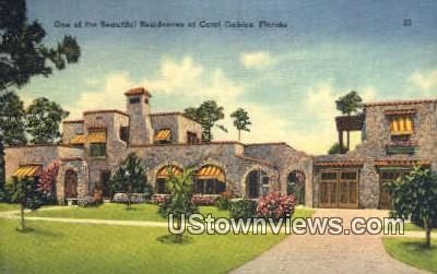 Residence - Coral Gables, Florida FL Postcard