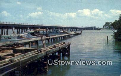 New Bridge, Cortez to Bradenton Beach - Anna Maria Island, Florida FL Postcard