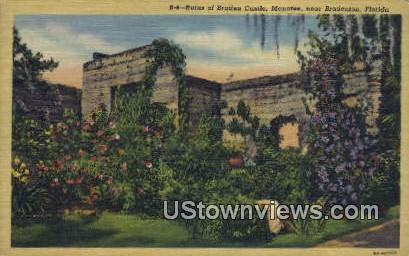 Ruins of Braden Castle, manatee - Bradenton, Florida FL Postcard