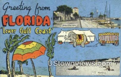 Greetings from Florida - Bradenton Postcard