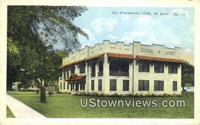 Commercial Club - De Land, Florida FL Postcard