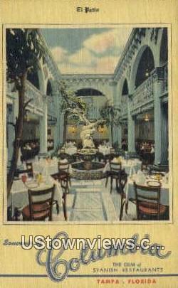 The Columbia - Tampa, Florida FL Postcard
