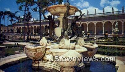 Fountain of the Tortoises - Sarasota, Florida FL Postcard