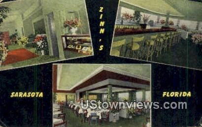 Zinn's Restaurant - Sarasota, Florida FL Postcard