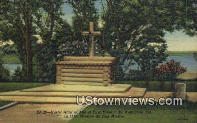 Rustic Altar of First Mass, 1565 - St Augustine, Florida FL Postcard