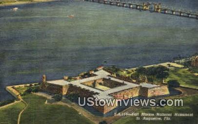Fort Marion National Monument - St Augustine, Florida FL Postcard