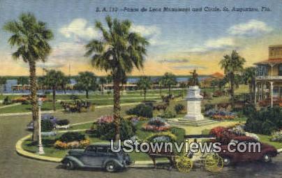 Ponce de Leon Monument - St Augustine, Florida FL Postcard