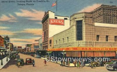 Franklin St - Tampa, Florida FL Postcard