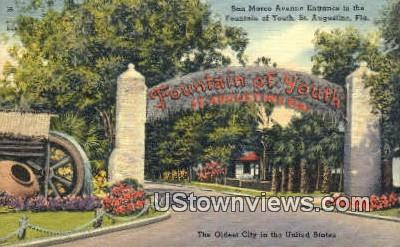 Fountain of Youth - St Augustine, Florida FL Postcard