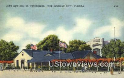 Lawn Bowling - St Petersburg, Florida FL Postcard
