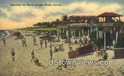 Lake Worth, Florida      ;            Lake Worth, FL Postcard