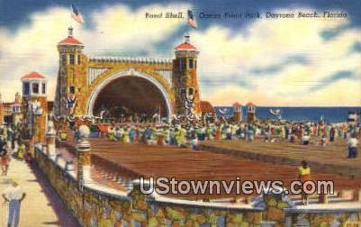 Band Shell, Ocean Front Park - Daytona Beach, Florida FL Postcard