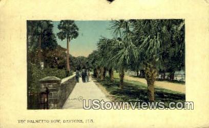 Palmetto Row - Daytona, Florida FL Postcard