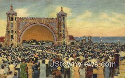 Bandshell & Open Air Theater - Daytona Beach, Florida FL Postcard