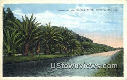 Halifax River - Daytona, Florida FL Postcard