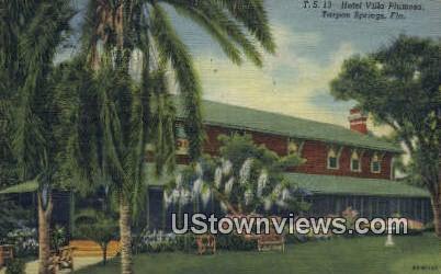 Hotel Villa Plumosa - Tarpon Springs, Florida FL Postcard