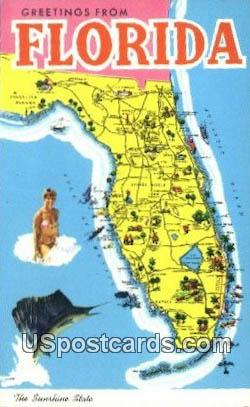 Greetings from, Florida Postcard     ;     Greetings from, FL