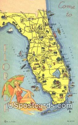 Greetings from, FL Postcard     ;     Greetings from, Florida